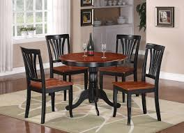 Kitchen Table For Two 3pc Round Table Dinette Kitchen Table And Two Chairs Black And