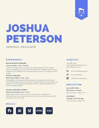 Large Blue Heading Designer Creative Resume