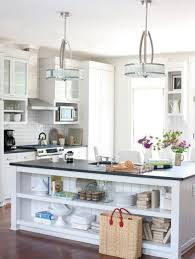 attractive white kitchen island pendant lights with drum shade
