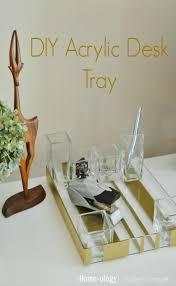 diy acrylic desk tray