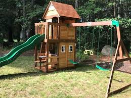 simple swing set plans free porch sets custom wooden outdoor playhouse designs