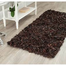 rugs hand knotted leather rug for hallway floor decor how do you clean leather