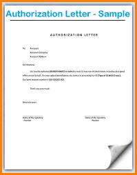 11 Authorization Letter Format Think Down Town Kc