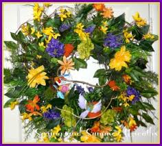 spring wreath for front doorSpring and Summer Wreaths For Your Front Door  Artificial Wreaths