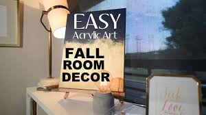 on wall art diy youtube with fall room decor super easy diy wall art acrylic art diy youtube