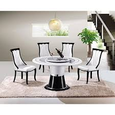 china hot home luxury round rotating marble dining table