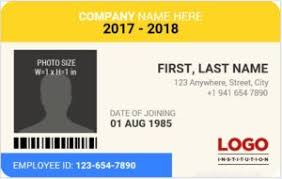 Microsoft Id Card Professions Various Employee For Word Badges Templates