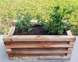 rustic split rail planter box