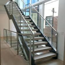 glass stair railing cost modern stair railing custom glass railings with white oak treads glass stair glass stair railing cost