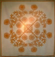 76 best Quilts - Hawaiian Quilts images on Pinterest | Mandalas ... & Vintage Hawaiian quilt, made circa 1950. Design is cut from a single piece  of Adamdwight.com