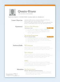 Resume Templates Free Download Word It Professional Resume Template