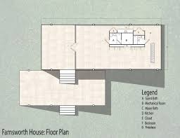 Farnsworth House Source  Farnsworth House Floor Plan Floor Ideas