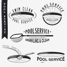 pool service logo. Pool Service Logos With Labels Black Vector 02 Logo