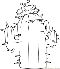 Small Picture Cactus Coloring Page Free Plants vs Zombies Coloring Pages
