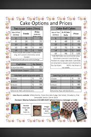 Cake Size And Price Chart Cake Price Sheet Business Ideas And Info Cake Pricing