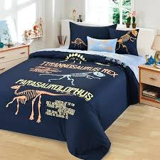 dinosaur bedding sets deep blue c and yellow dinosaur pattern and monogrammed cretaceous animal hipster style cotton twin full size bedding sets