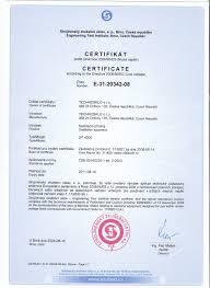 Certificate According The Directive 2006 95 Ec Technosklo Ltd