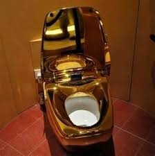 gold plated toilet seat. gold plated toilet, literally the \ toilet seat s
