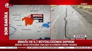 SON DAKİKA: Depremin ardından açıklamalar peş peşe geliyor! Bingöl, 5.7  şiddetindeki deprem ile sallandı! Diyarbakır, Erzincan, Elazığ ve Muş'ta da  hissedildi - Son Dakika Yasam Haberleri