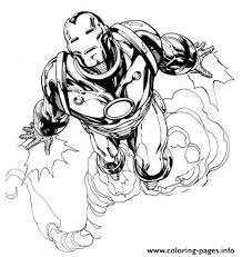 Iron man coloring pages for kids. Flying Iron Man 062a Coloring Pages Printable