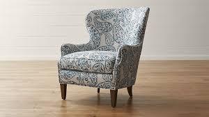 blue wingback chair. Blue Wingback Chair O