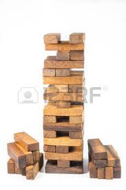 Wooden Brick Game Jenga Tower Color Brick Game On Wood Table Stock Photo Picture 40