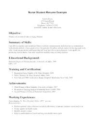 New Grad Nursing Resume New Grad Resume Sample Student Nurse Samples ...