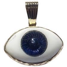 evil eye 14k gold good luck glass