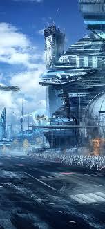 Star Wars, art picture, skyscrapers ...
