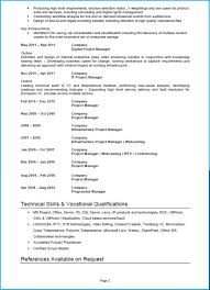 Exemple De Cv Word En Anglais Impressionnant Project Manager Cv