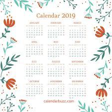 Desk Calendar Printable 2019 Wall Desk Printable Calendar Download