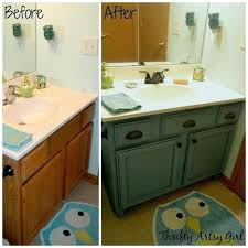 Refinishing Bathroom Vanity Inspiration Excellent Refinishing Bathroom Cabinets Ideas Painting Old Bathroom