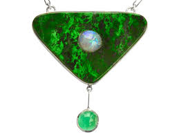 eb maw sit sit emerald and opal pendant necklace