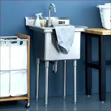 stainless steel utility sink with legs deep cabinet laundry sinks cabinets images canada