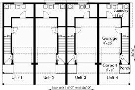 Eplans Neoclassical House Plan Lovely Quadplex  Architecture Quadplex Plans