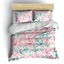 anchor bedding set preppy pink