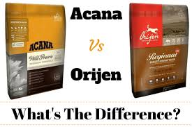 Acana Food Chart Acana Vs Orijen Whats The Difference Which Is Best Dog