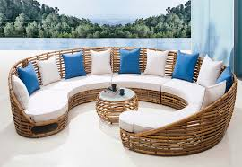Bathroom Outdoor Wicker Lounge Sofa With Cushions And Unique