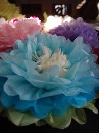 tissue paper flower centerpiece ideas