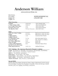 Adorable Performer Resume Template About Child Actor Resume Pertaining To  Actors Resume Template