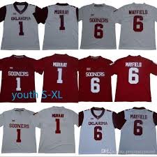 1 Oklahoma Sooners Football Baker Mayfield Home 6 Jersey College Jerseys Stitched Red Murray 100 Youth Kyler Mens edfedacccec|In Monday Night NFL Football On ESPN