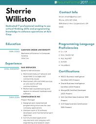 Resume 2017 Resume Format 100 Therpgmovie 17