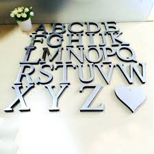 silver wall letters decoration amazing mirror sticker heart symbol art mural mirrored decor uk entrancing sti
