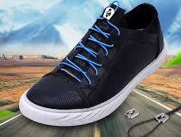 <b>1Pair</b> No Tie Shoe <b>Laces</b> Elastic Metal buckle Round <b>Shoelaces</b> ...