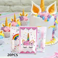 Kuhong <b>Unicorn Theme</b> Party <b>Plastic</b> Gift Bag Candy Bag Party ...