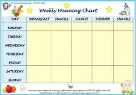 Weekly Weaning Chart Boys Pdf Penny Saving Mum