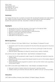 Assistant Principal Resume Template Best Design Tips