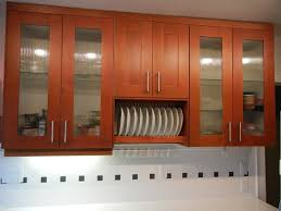 kitchen cabinet replacement doors glass red wood furniture