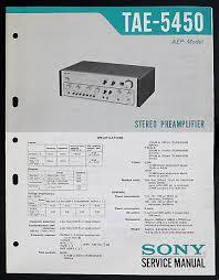 sony ta 2000 original stereo pre amplifier service manual diagram sony tae 5450 original stereo pre amplifier service manual diagram o146
