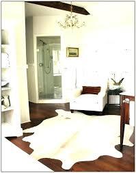 white cowhide rug silver faux metallic grey nz m